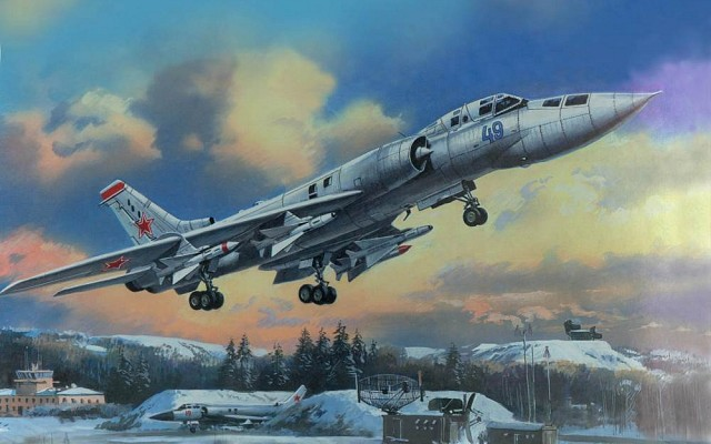 Tu-128 with R-4T and R-4R air to air missiles