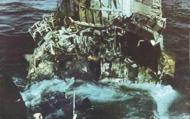 Destroyed target ship