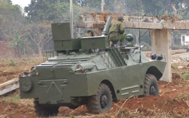 BRDM-2 with mortar